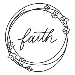 Letras florales de fe