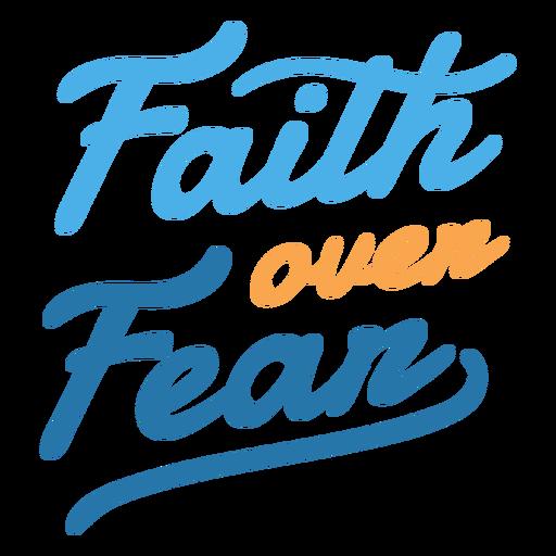 Fe sobre letras de miedo