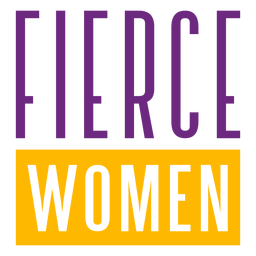 Fierce women stretched lettering