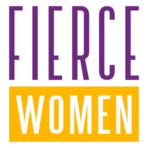 Fierce women stretched lettering