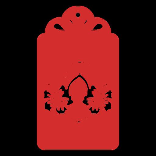Flip flops flower papercut tag Transparent PNG