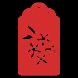 Etiqueta de papercut de flores