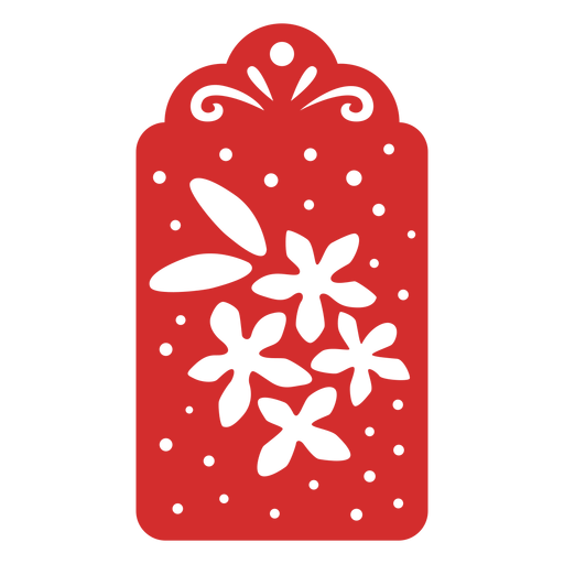 Flowers papercut tag Transparent PNG