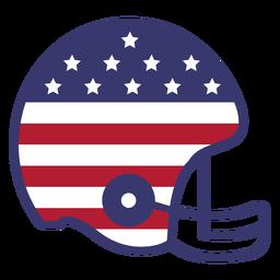 Capacete de futebol americano com bandeira plana