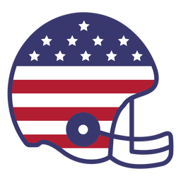 Football helmet usa flag flat