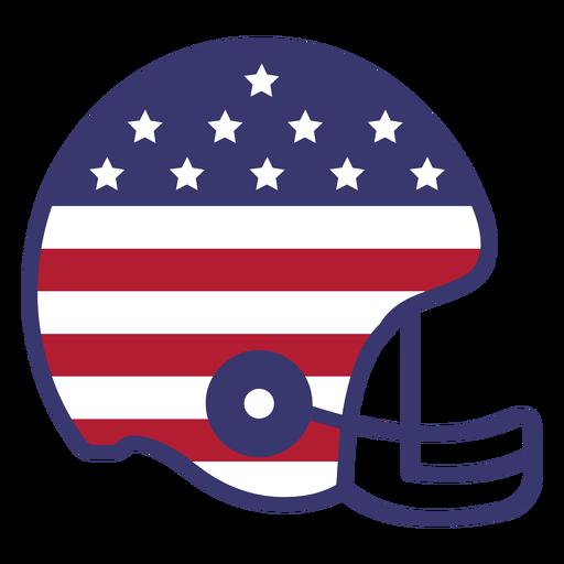 Football helmet usa flag flat