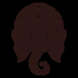 Cabeza de Ganesha hindú negro