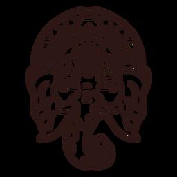 Ganesha head hindu stroke