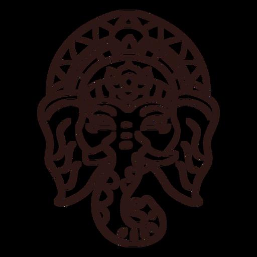 Ganesha head hindu stroke Transparent PNG