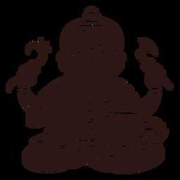 Deus hindu ganesha preto