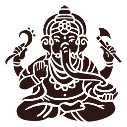 Ganesha hindu god black