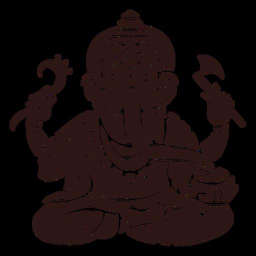 Ganesha hindu god black Transparent PNG