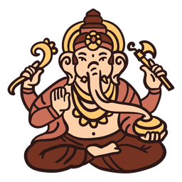 Ganesha hindu god illustration