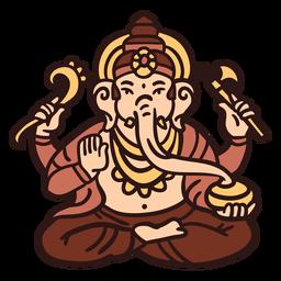 Ganesha hindu god illustration