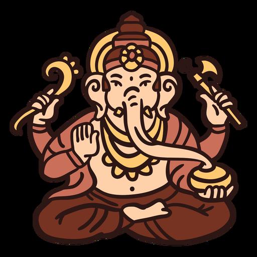 Ganesha hindu god illustration Transparent PNG