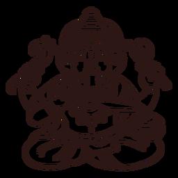 Ganesha hindu god stroke