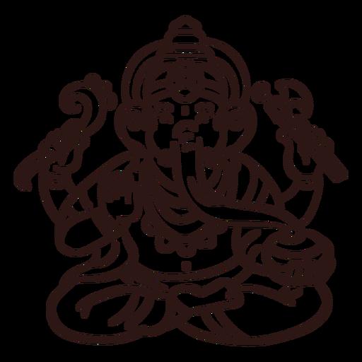 Ganesha hindu god stroke Transparent PNG