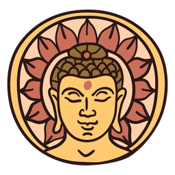 Gautama buddha head illustration