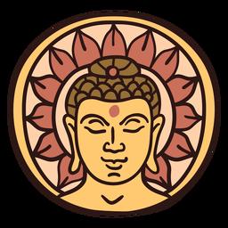 Ilustración de la cabeza de Buda Gautama