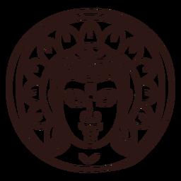 Gautama buddha head stroke