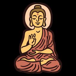 Gautama buddha illustration