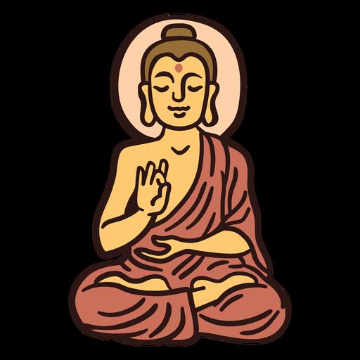 Ilustración de buda gautama