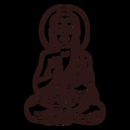 Gautama buddha stroke