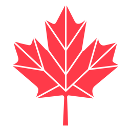 Geometric maple leaf flat