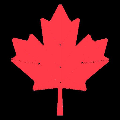Geometric maple leaf flat