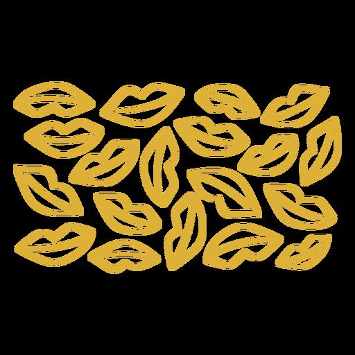 Golden lips pattern