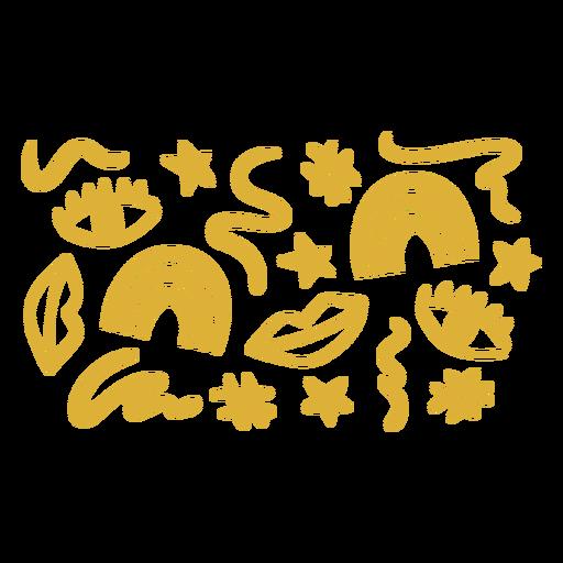 Golden makeup pattern