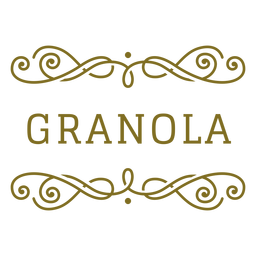 Granola swirls label