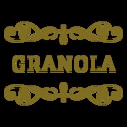 Rótulo de redemoinhos de granola