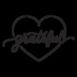 Letras de corazón agradecido