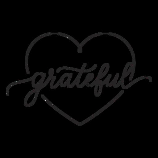 Grateful heart lettering