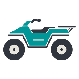 ATV verde plana