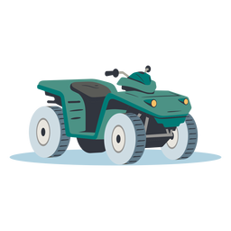 Green atv illustration