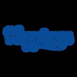Felicidad letras azules