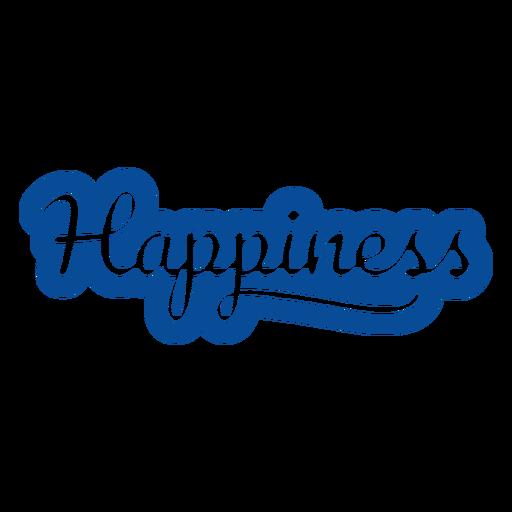 Letras de felicidad azul