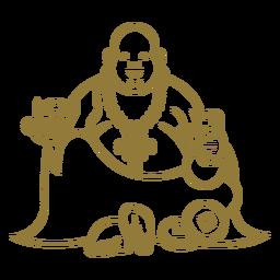 Happy buddha stroke