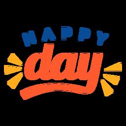 Letras de feliz día