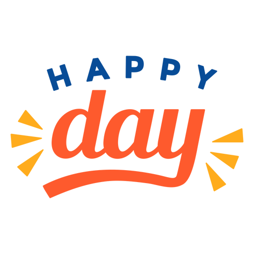 Happy day lettering Transparent PNG