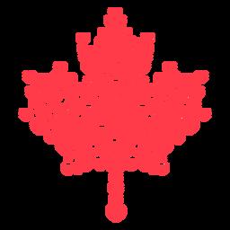Herzen, die Ahornblatt flach bilden
