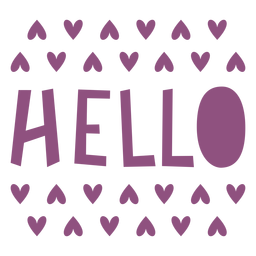 Hola letras de corazones