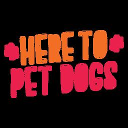 Aquí para mascotas letras de perros