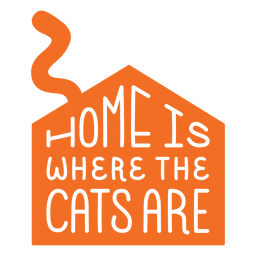 Home is where cats are lettering