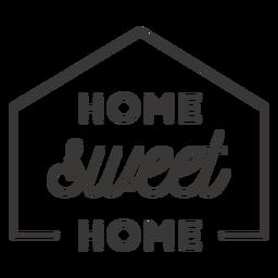 Distintivo de lar doce lar