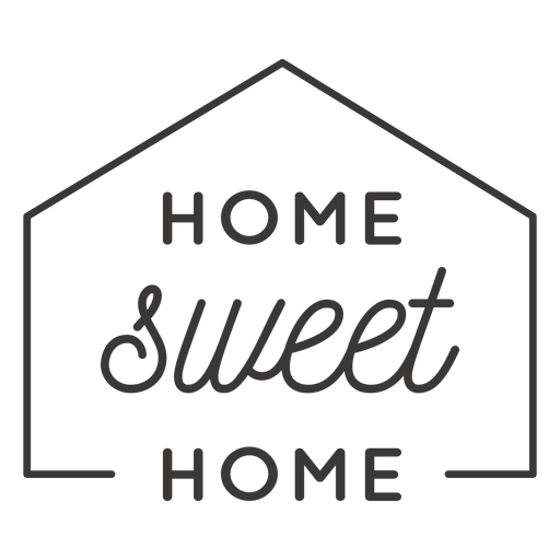 Insignia hogar dulce hogar Transparent PNG