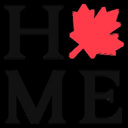 Casa com letras de sinal maple