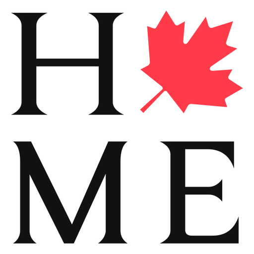 Home with maple sign lettering